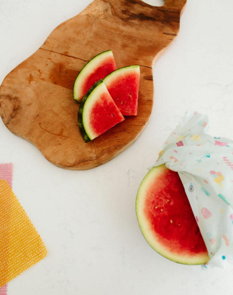 goldilocks wraps, watermelon, sustainable, plastic