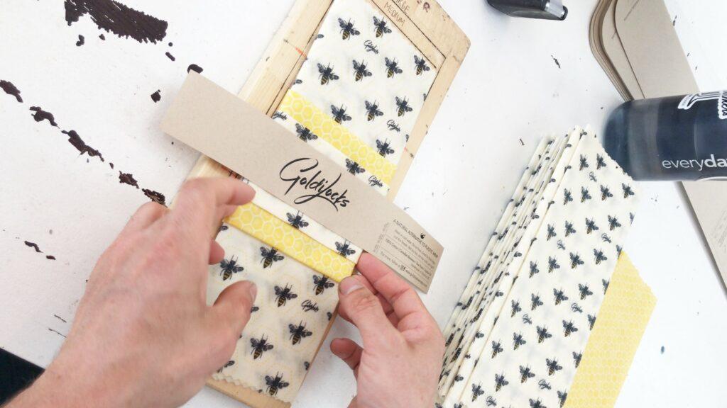 bees, pattern, goldilocks wraps, sustainable, plastic wrap